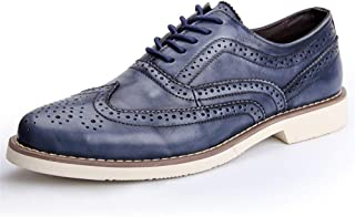 Men's Handmade Leather Modern Classic Lace up Leather Dress Oxfords Shoes