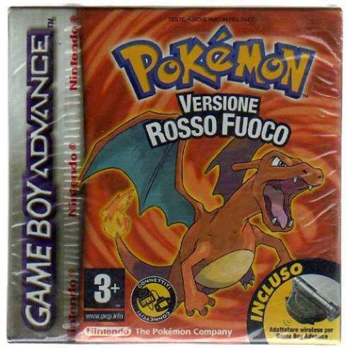 GAME BOY ADVANCE Pokemon VERSIONE Rosso Fuoco Nuovo