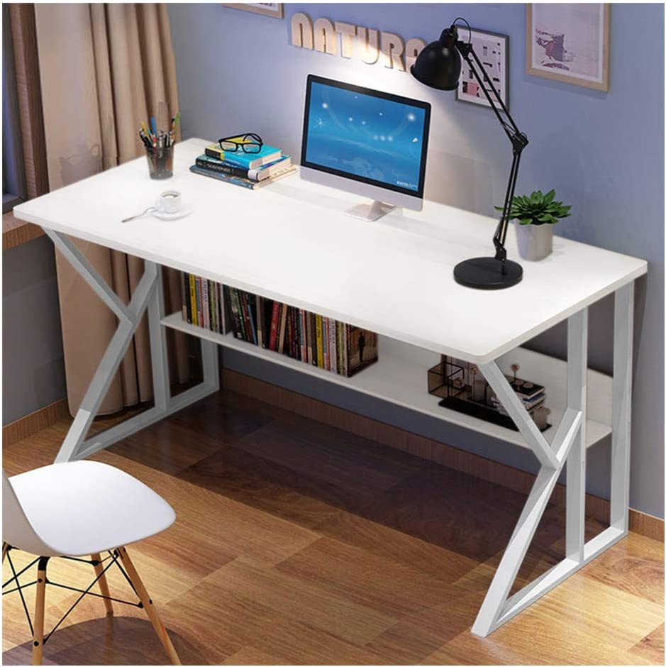Laptop Table for Home Office Notebook Desk Modern Office Computer Desk Student Study Writing Desktop Desk Economic 39.4 x 17.7 x 28.3 inches A White