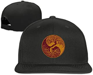 e55256b9 Asfbau Bnjazzp Glitter Yin Yang Bonsai Tree Japanese Unisex Baseball Caps  Adjustable Flat Bill Plain Hat