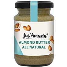 Jus Amazin Creamy Almond Butter - Unsweetened (125g) | 25% Protein | Plant-Based Nutrition | 100% Almonds | Zero Additives...
