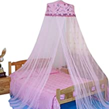 HOUSWEETY New Round Sequins Curtain Dome Bed Canopy Netting Mosquito Net (Pink)