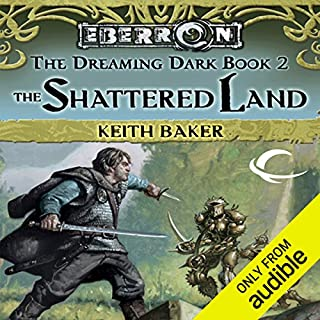 The Shattered Land audiobook cover art