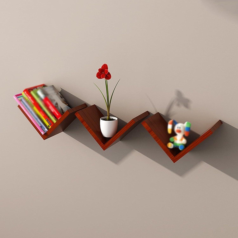 Chunlan Bookshelf Pine Solid Wood Bookshelf Shelves Freedom Combination V-Shaped Decorative Frame (color   Brown)