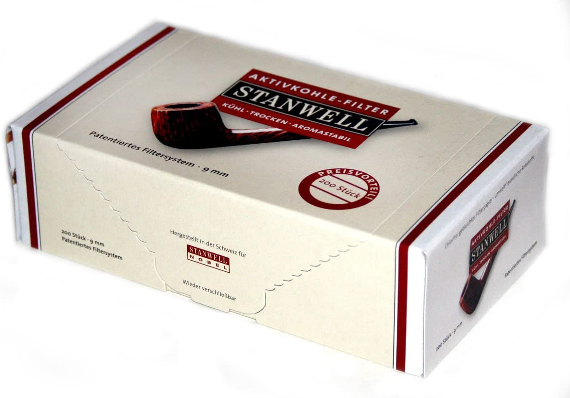 Stanwell 9mm Active Charcoal Pipe of Latest item Filter Max 47% OFF Box Filters 200