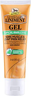 Absorbine Veterinary Liniment Topical Analgesic Sore Muscle and Arthritis Pain Relief Warming Liniment Rub, 3 Ounce Gel
