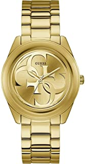 Guess Womens Analogue Watch G-Twist with Stainless Steel Strap, Gold, bracelet