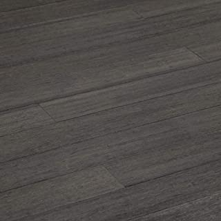 Yanchi Click-Lock Solid Strand Woven Bamboo Flooring-Distressed Logan Gray / 4 7/8