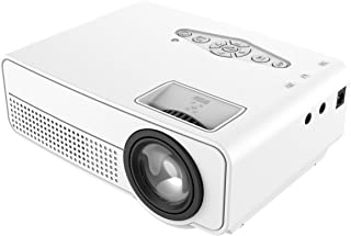 1800 Lumens Mini Projector Upgraded, Full HD Maximum 1080P Display Supported,PS4,TV Stick, Smartphone, USB, VGA, HDMI AV S...