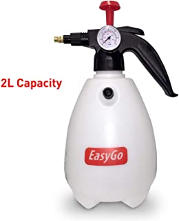 EasyGO Products EGP-SHO-008 Bottle 1 to 2 Liter (68 Ounces) Hand Pump Sprayer W/Pressure Gauge – Mister Setting-for Gardening, Fertilizing, Cleaning & General Use Spraying Water-Chemical