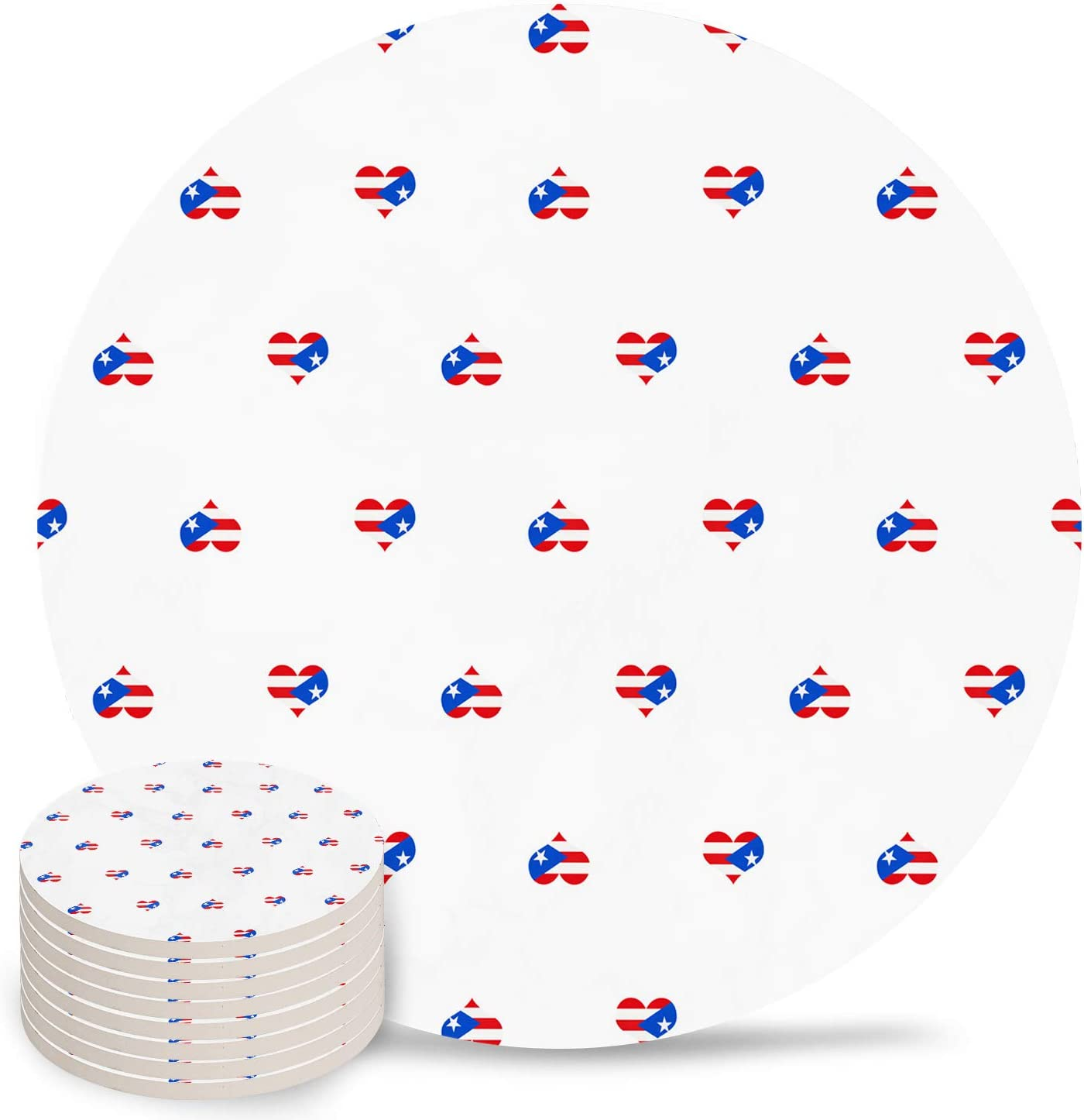 Funny Round Coasters for Drinks Max 44% OFF with OFFicial shop Ceram Cork Absorbent - Base