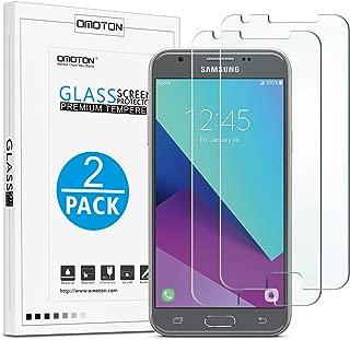 [2-Pack] Samsung Galaxy J3 Emerge / J3 Prime/AMP Prime 2 / Sol 2 / J3 Eclipse / J3 Mission / J3 (2017) / Express Prime 2 / J3 Luna Pro Screen Protector - OMOTON Tempered Glass Screen Protector