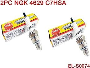 Lot of 2 NGK Standard Non-Resistor Spark Plug 4629 C7HSA for 50cc 110cc 150cc Motorcycle ATV Dirt Pit Bike Go Kart Quad Honda Yamaha Kawasaki Suzuki Bristol
