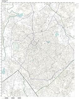 Working Maps Zip Code Wall Map of Charlotte, NC Zip Code Map Laminated