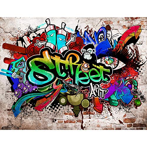 Fototapete Graffiti Streetart Vlies Wand Tapete Wohnzimmer Schlafzimmer Büro Flur Dekoration Wandbilder XXL Moderne Wanddeko - 100% MADE IN GERMANY - Runa Tapeten 9218010a