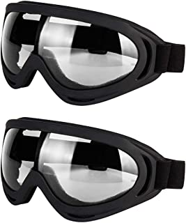 LJDJ Motorcycle Goggles – Glasses Set of 2 – Dirt Bike ATV Motocross Anti-UV..