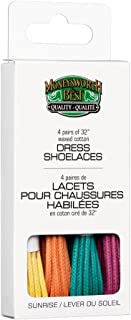 Moneysworth & Best Dress Waxed Colored Shoe Laces 4 Pack - Sunrise Colors, 32