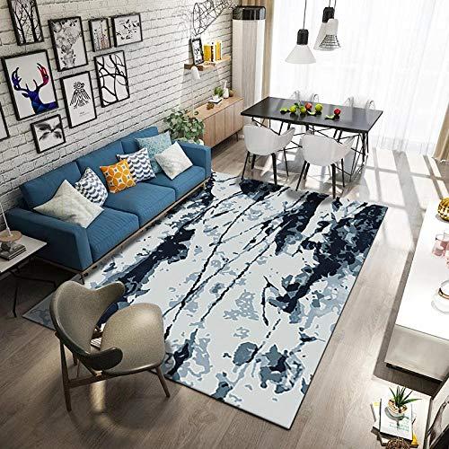 HXJHWB alfombras Salon Grandes Natural Suave - Balcón Arte Creativo Salpicaduras Tinta impresión 3D Alfombra Interior Terciopelo Corto Antideslizante-Los 40CMx60CM