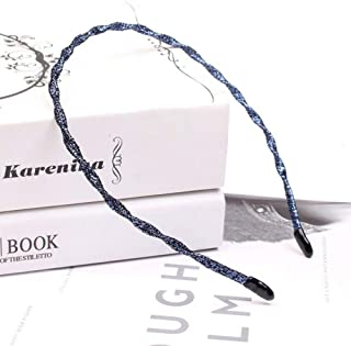 MOPOLIS Womens Shining Thin Headband Hairband Twist Hair Hoop Band Accessories Headpiece | StyleID - Sapphire
