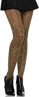 LegAve Leg Avenue Damen Strumpfhose mit Glitzer Effekten schwarz gold Einheitsgröße ca. 36 bis 40