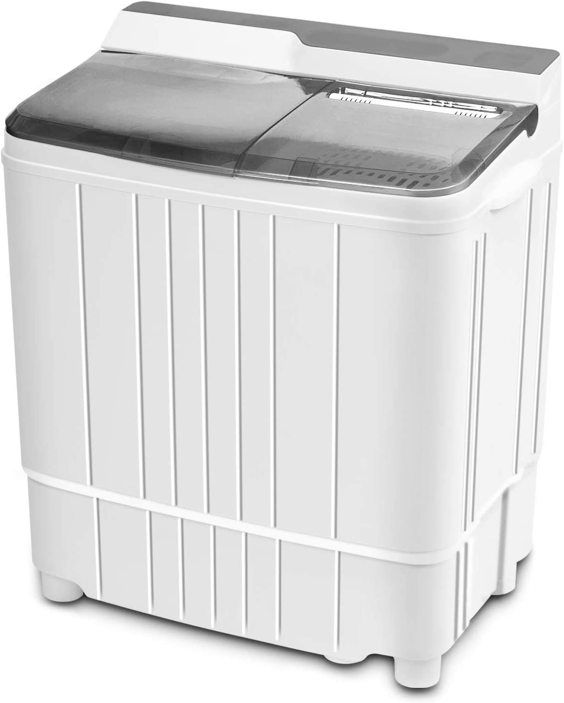 Portable Mini Washing Machine, INVIE Compact 17.6lbs Twin Tub Washer (11lbs) and Spin Dryer Combo (6.6lbs), Timer Control with Soaking Function Ideal for Dorms, Apartments, RVs, Camping etc, Gray
