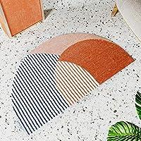 室内装飾 幾何学ラグマットモダン・カーペットホームリビングルーム北欧タピストイレキッチンフロアマットドアマットアンチスリップマット寮のインテリア 壁の装飾 (Color : A)