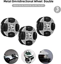 Leslaur 3pcs Omni Wheels Omnidirectional Wheel Metal Double for RC Robot RC Car RC Toy DIY