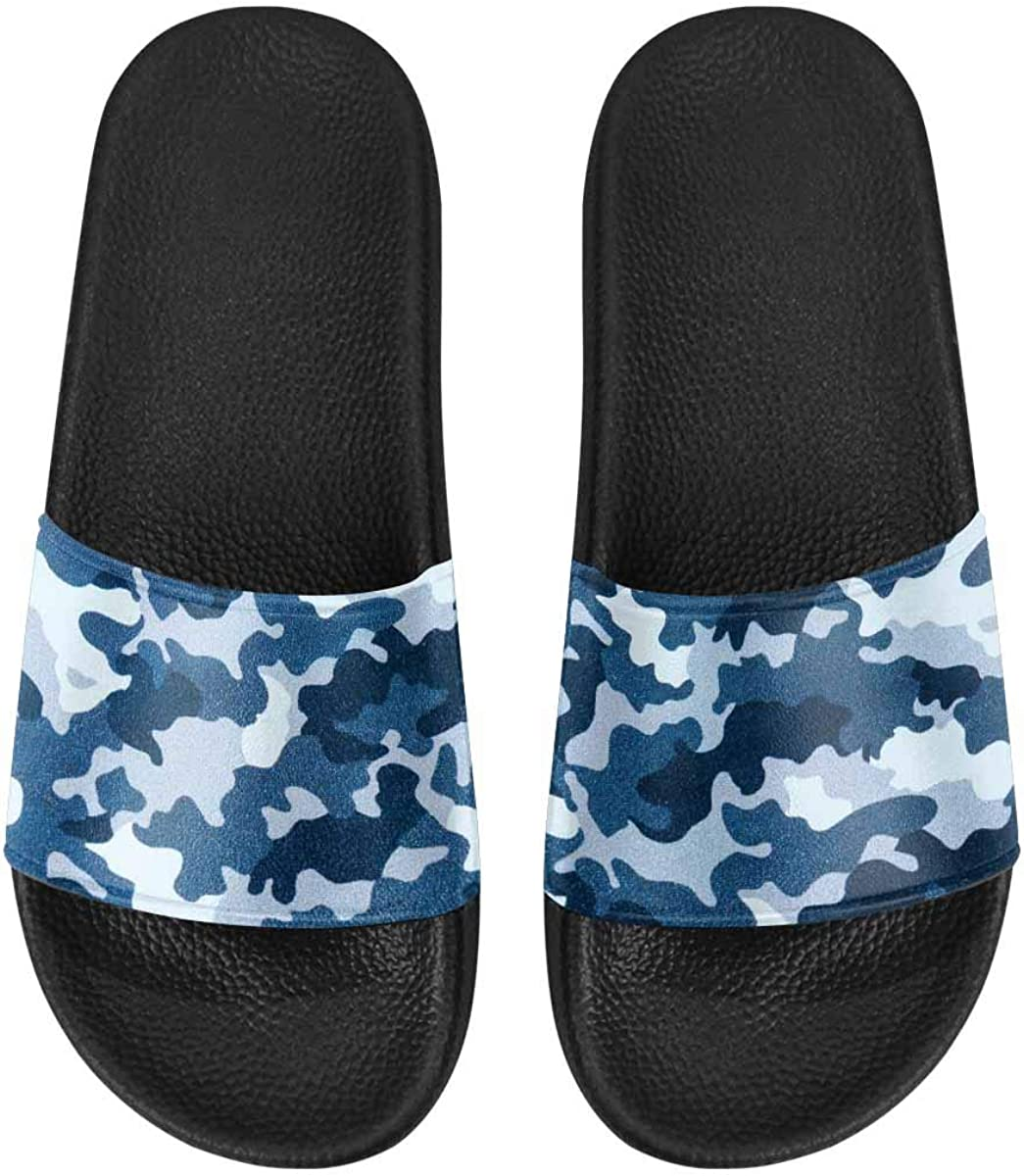 InterestPrint Casual Slipper Sandals for Women with PVC Straps Fashion Camo Pattern