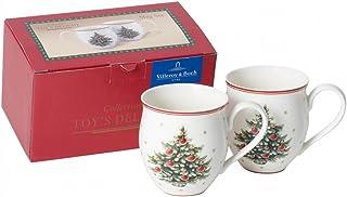 comprar comparacion Villeroy & Boch Toy's Delight Taza Grande Árbol de Navidad, Juego de 2 Piezas, 440 ml, Porcelana Premium, Blanco/Rojo