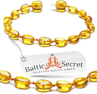 Premium Amber Teething Bracelet Anklet/Extra Safe / 50% Richer and Higher in Value/Sizes from 4.5 in to 8 in/Reduces Teething Symptoms Naturally/HNY.P-BN / 13.5CM / 5.3IN