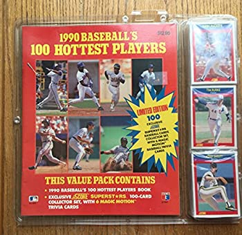 Hardcover 1990 Baseball's 100 Hottest Players/Book and 100 Baseball Cards Book