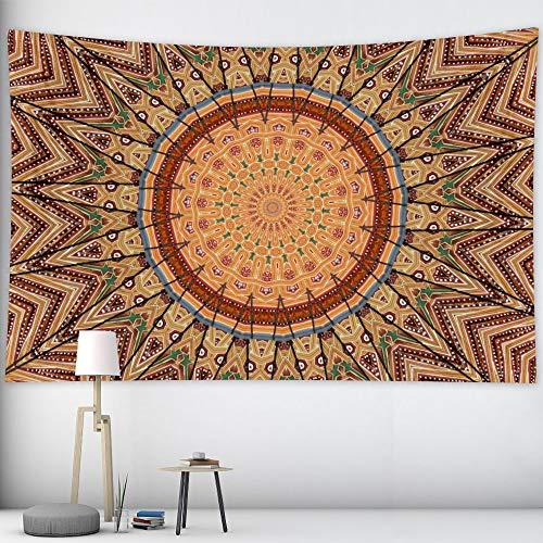 KHKJ Tapiz de Mandala de la India Tapiz de brujería decoración Bohemia decoración del hogar colchón Hippie A7 95x73cm