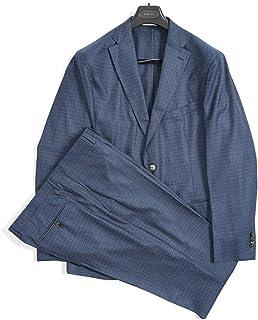 [ボリオリ] K.JACKET ケージャケット テーラード スーツ 2Bシングル 春夏 3シーズン メンズ ヴァージンウール 100% ネイビー 織 チェック イタリア ブランド アンコンジャケット [54] 【並行輸入品】