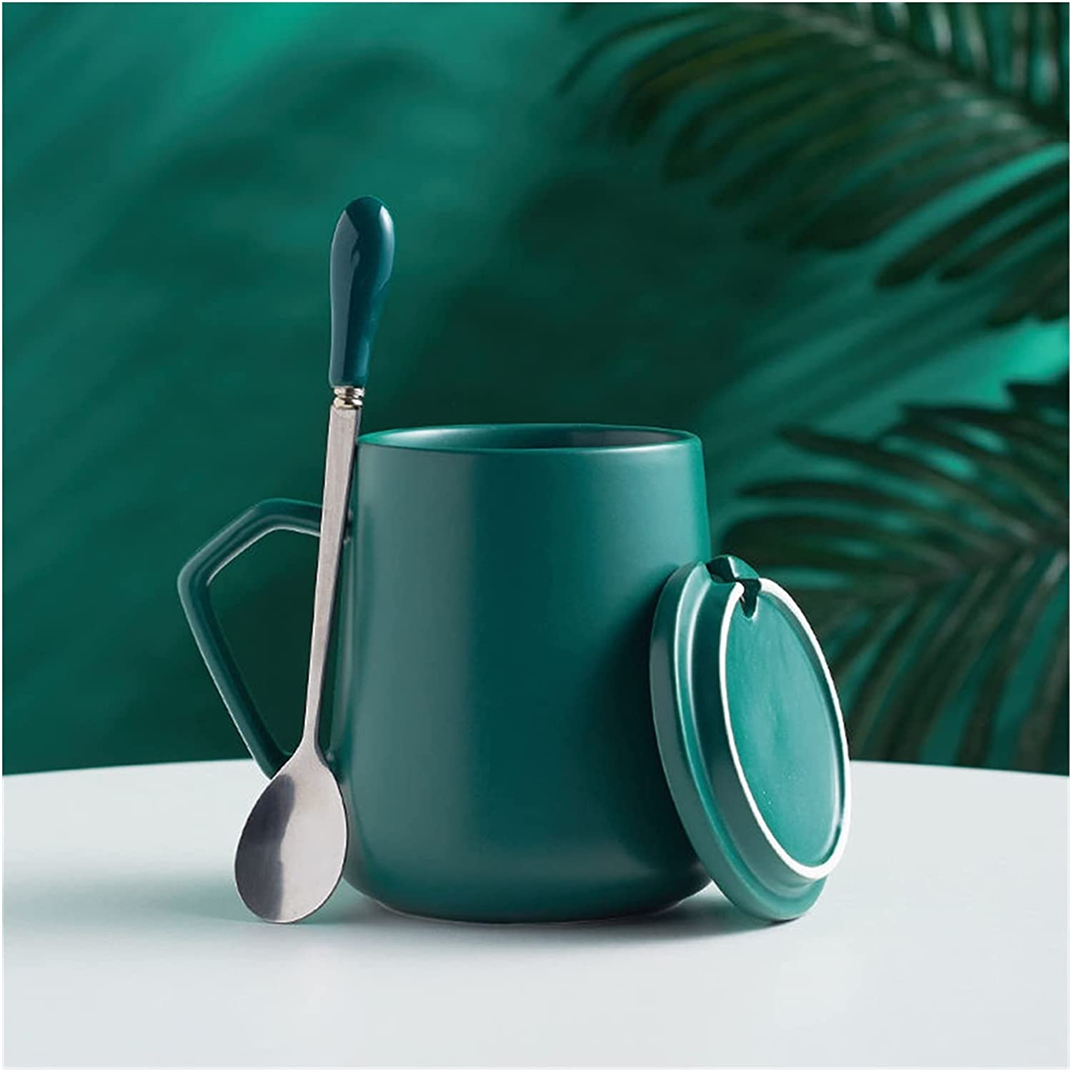 Water cup 2021new shipping free shipping Dealing full price reduction Mug Square Hand Holding Milk Coffee Cu Cup Tea