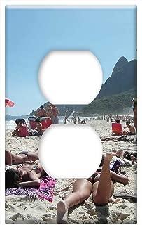 Switch Plate Outlet Cover - Copacabana Rio De Janeiro Beach Girl Sand Bikini