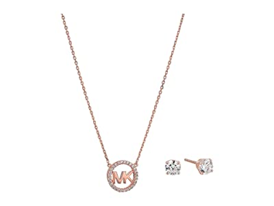 Michael Kors Necklace Box Set (Rose Gold Tone) Jewelry Sets