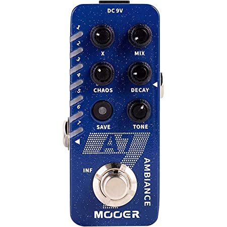 MOOER A7 Ambiance Reverb Pedal Guitar Effects Pedal ambient Reverb with Plate Hall Shake Crush Shimmer Dream Modulation