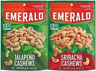 Emerald Sriracha Cahsews, 5oz and Emerald Jalapeno Cashews, 5oz Bundle, 2pk