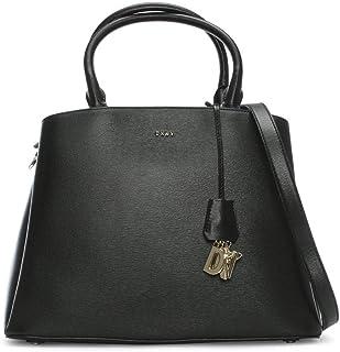 b78d12b623 DKNY sac de satchel Paige en cuir noir dôme