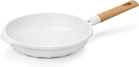 Nonstick Frying Pan 100% PFOA Free Cookware Induction Skillet Fry Pan 11 Inch - White