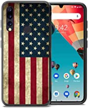 for Umidigi A5 Pro Case, ABLOOMBOX Shockproof Slim Thin Soft Flexible TPU Silicone Protective Cover for Umidigi A5 Pro Vintage American Flag