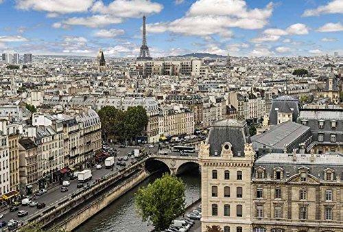 Fotobehang posterdecoratie PRINTEMPS A PARIS 3x2,70m Deko XXL kwaliteit HD Scenolia