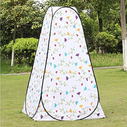 DRGRG Portable Privacy Tent Shower Toilet Camping Pop Up Tent Small Flower Color Outdoor Dressing Tent/Outdoor Toilet Tent Flower