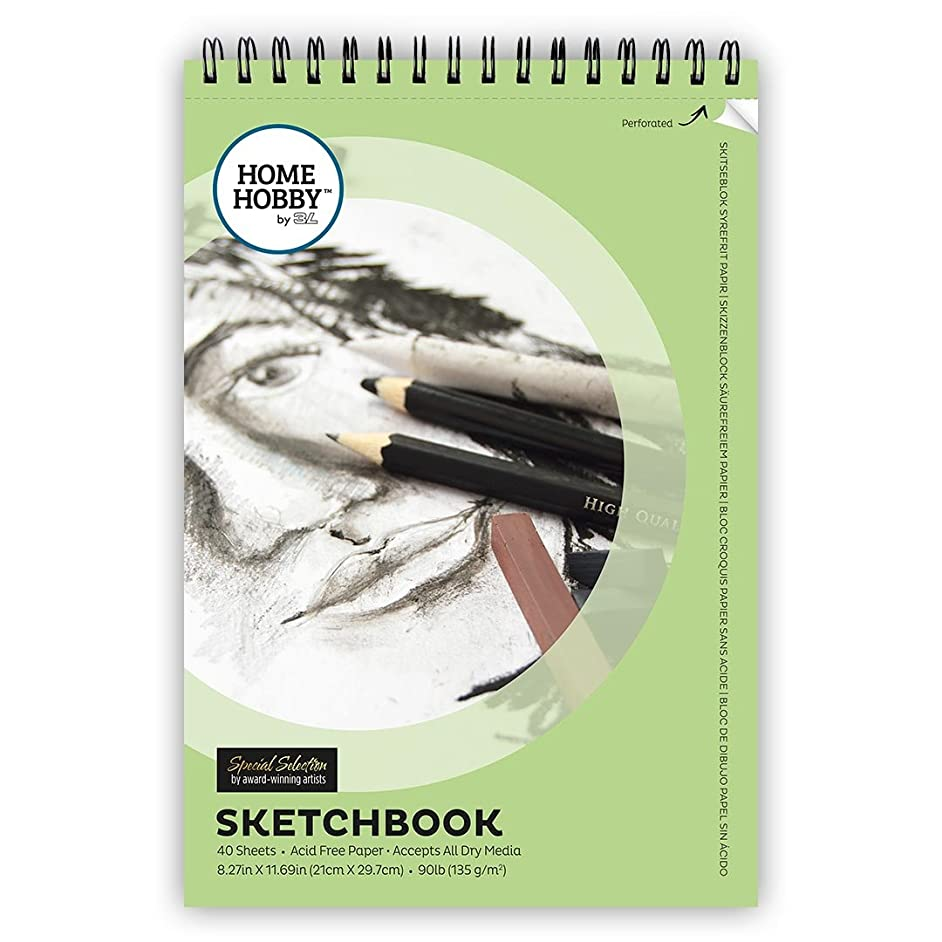 Home & Hobby Sketch Book, 40-Sheets, Acid Free Paper, 8.27