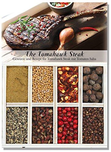 The Tomahawk Steak – 8 Gewürze Set für ein mächtiges Steak (52g) – in einer schönen Holzbox...