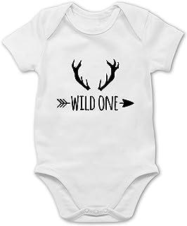 Shirtracer Wild One Hirschgeweih - Baby Body Kurzarm für Jungen und Mädchen