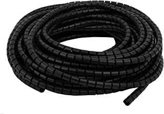 Aexit Flexible (Electrical equipment) Spiral Tube Cable Wire Wrap Black Manage Cord 10mm Dia x 15 Meter Long (13ry508qf24...