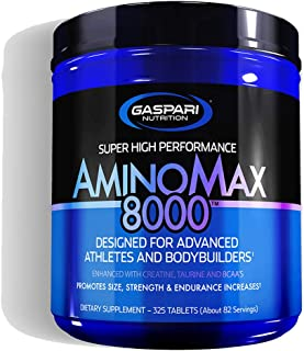 Gaspari Nutrition Amino Max 8000 | Amino Acids Tablets Supplement | Whey Protein Concentrate Hydroslysate, Creatine Monohy...