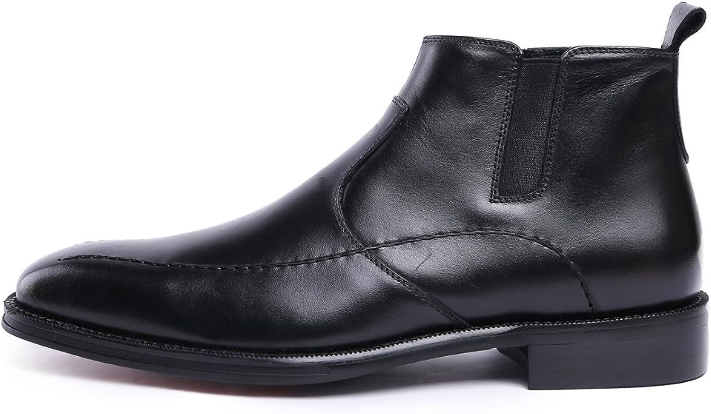 Medzre Medzre Medzre Män's Genuine läder kort Business Formal Chelsea stövlar  online shopping och modebutik