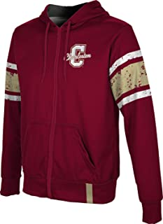 ProSphere College of Charleston University Men's Zipper Hoodie, School Spirit Sweatshirt (End Zone)